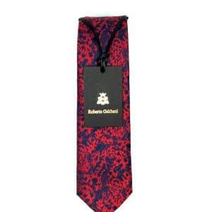 Krawaty Elegancki Krawat Granatowo Miedziany