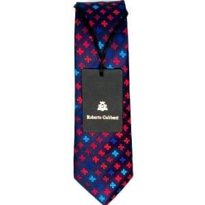 Krawaty Elegancki Krawat Granatowy Krzyżyki