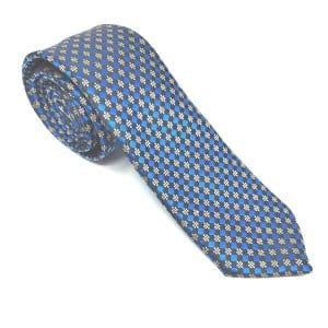 Krawaty Elegancki Krawat Czarny Chabrowy Wzorek