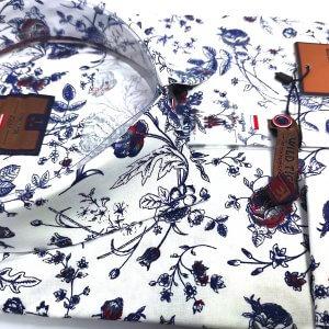 Koszule długi rękaw Koszula Wild Tiger Róże Bordo