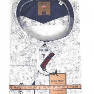 Koszule długi rękaw Koszula Męska Granatowy Wzorek