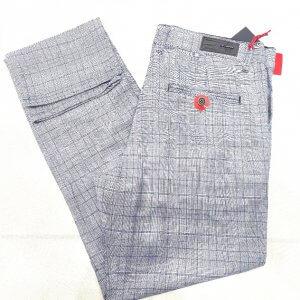 Spodnie Spodnie Męskie Szare Kratka