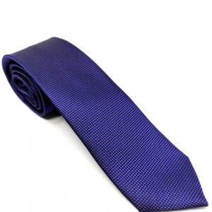 Krawaty Elegancki Krawat Granatowy Kropki