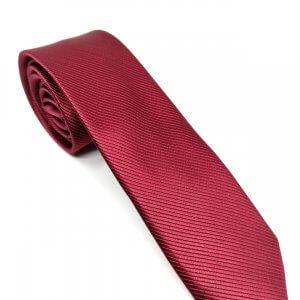 Krawaty Elegancki Krawat Bordowy