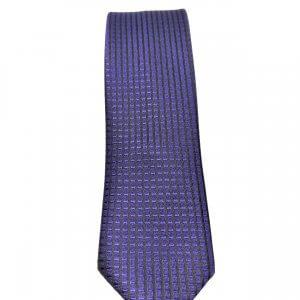 Krawaty Elegancki Krawat Granatowy Wzorek