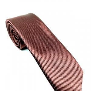 Krawaty Elegancki Krawat Miedziany
