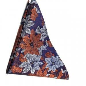 Poszetki Poszetka Granatowa Kwiaty