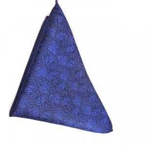 Poszetki Poszetka Niebieska Wzorek