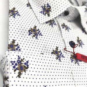 Koszule długi rękaw Koszula Biała Kwiaty