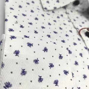 Koszule długi rękaw Koszula Męska Granatowy Wzór