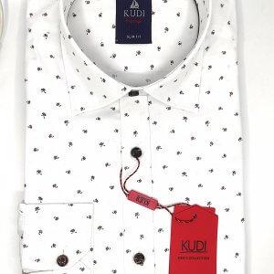 Koszule długi rękaw Koszula Biała Wzór