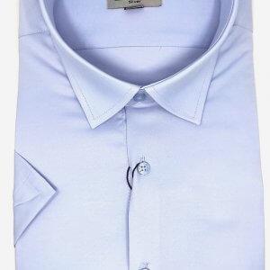 KOSZULE KRÓTKI RĘKAW Koszula Męska Niebieska