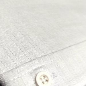 KOSZULE KRÓTKI RĘKAW Koszula biała lniana stójka