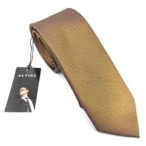 Krawaty Elegancki Krawat Brązowy
