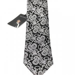 Krawaty Elegancki Krawat Czarny Biały Wzór