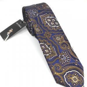 Krawaty Elegancki Krawat Złoty Turecki