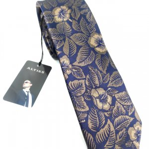 Krawaty Elegancki Krawat Brązowe Kwiaty