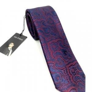 Krawaty Elegancki Krawat Granatowo Bordowy