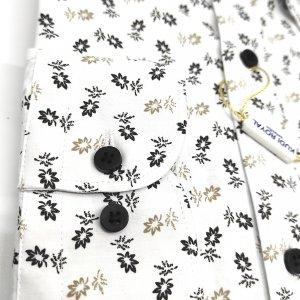 Koszule długi rękaw Koszula Kudi Royal Kwiaty