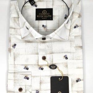 Koszule długi rękaw Koszula Kudi Elite Liść