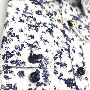 Koszule długi rękaw Koszula Kudi Royal Wzorek