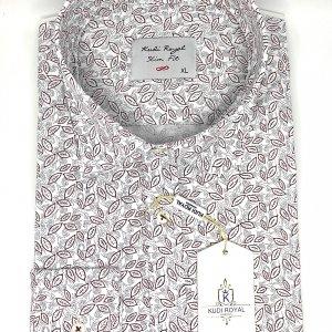 Koszule długi rękaw Koszula Kudi Bordowy Wzór