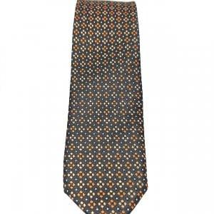 Krawaty Elegancki Krawat Pomarańczowe Kwadraty