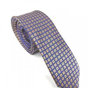 Krawaty Elegancki Krawat Złote kwadraty