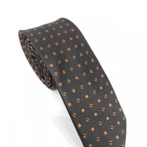 Krawaty Elegancki Krawat Brązowe Kwadraty