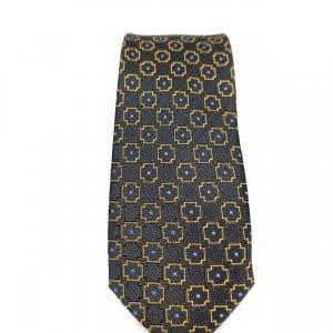 Krawaty Elegancki Krawat Złoty Wzór