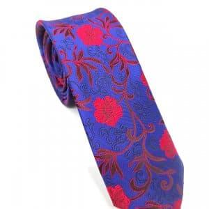 Krawaty Elegancki Krawat Czerwone Kwiaty