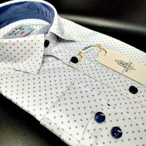 Koszule długi rękaw Koszula Kudi Royal Gwiazdeczki