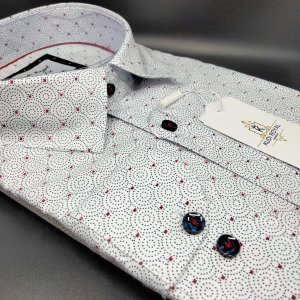 Koszule długi rękaw Koszula Kudi Royal Kółka