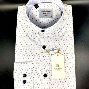 Koszule długi rękaw Koszula Kudi Royal  Kółka-Kreski