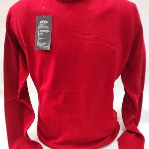 Swetry Sweter Męski Czerwony