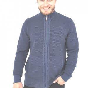 Swetry Sweter na zamek niebieski